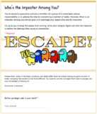 Virtual Escape Room (Who's Among Us Themed Template)