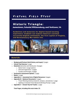 Virtual Field Study: Historic Triangle, VA
