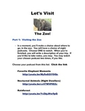 """Virtual Field Trip:  """"Let's Visit the Zoo"""""""