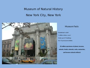 Virtual Field Trip-Museum of Natural History