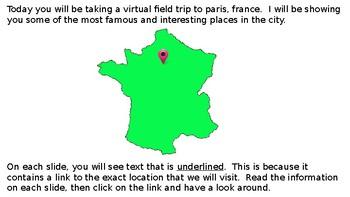 French Virtual Field Trip PARIS, FRANCE