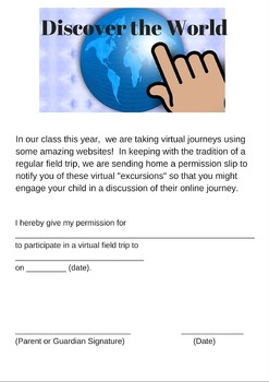 Virtual Field Trip Permission Sip