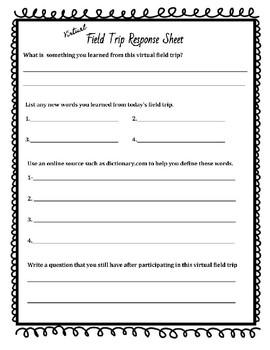 Virtual Field Trip Response Form