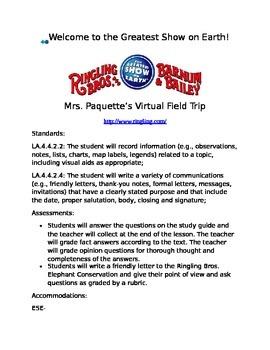 Virtual Field Trip: Ringling Bros.