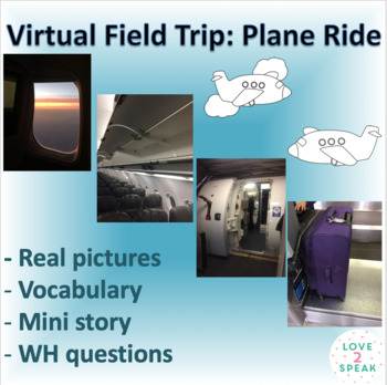Virtual Field Trip Taking a Plane Ride - Vocabulary, Real Pictures, WH Questions