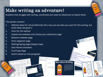 Virtual Field Trip Writing Adventure