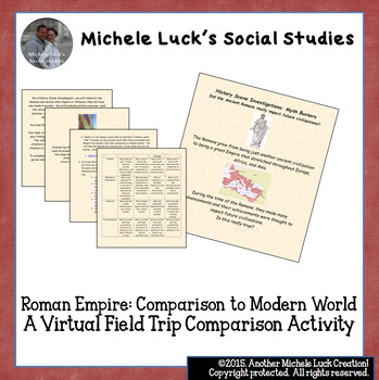 Virtual Field Trip on the Roman Empire: Comparison to Modern World