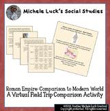 Virtual Field Trip on the Roman Empire: Comparison to Mode
