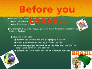 Virtual Field Trip to Brazil **Editable***