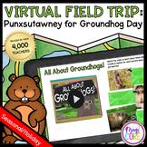 Virtual Field Trip to Punxsutawney Groundhog Day - Google Slides & Seesaw
