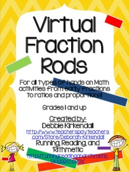 Virtual Fraction Rods (Printable)