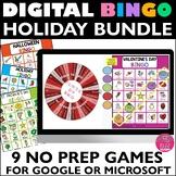 Virtual Bingo HOLIDAY GROWING BUNDLE with Summer
