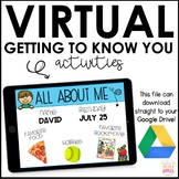 Virtual Getting to Know You Activity   Google Slides Activity