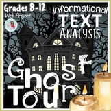 Ghost Tour Engaging ELA Web Research Project Grades 8-12 CCSS-Based