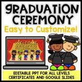 Virtual Graduation Ceremony | Digital End of the Year EDITABLE | Google Slides