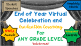 Virtual Graduation Last Day of School Celebration Template - with parent letter