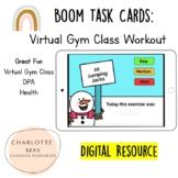 Virtual Gym Workout: Boom Task Cards!