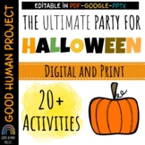 Virtual Halloween Class Party Activity Slides|Remote&In-Pe