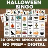 Virtual Halloween Games Bingo for Activity or Party Distan