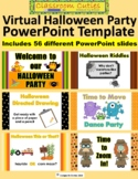 Virtual Halloween Party Celebration PowerPoint for Distance Learning or Class