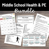 Middle School Health and PE Virtual Learning Bundle