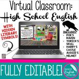Virtual High School English Classroom Google Slides Distan