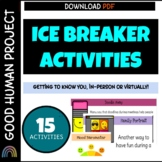 Virtual Ice Breaker Activities for Distance Learning | EDITABLE |