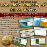 Virtual Interactive Lab: Heat Capacity of Oil vs Water for