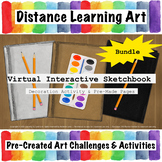 Virtual Interactive Sketchbook Bundle with Audio Instructions!