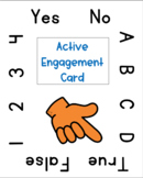 Virtual Learning: Active Engagement Card