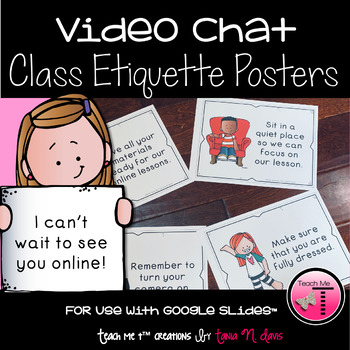 Virtual Learning Behavior Expectations Posters| Distance Learning| Google Slides