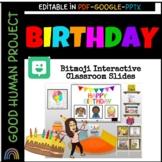 Google Slides Birthday Bitmoji Classroom Interactive Slide