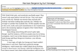 "Virtual Learning/E-Learning: ""Harrison Bergeron"" Close Reading/Annotations"