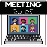 Virtual Learning Meeting Rules-For use with Zoom and Google