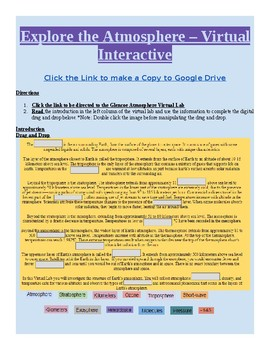 Digital Virtual Learning Online Interactive Atmosphere Layers