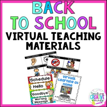 Virtual Learning Rules, Posters, and Schedule Cards