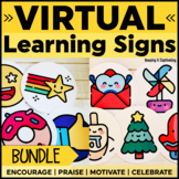 Virtual Learning Signs Bundle   Distance Learning