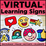 Virtual Learning Signs   Distance Learning