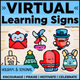 Virtual Learning Signs {Holidays and Seasonal}   Distance