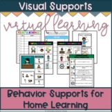 Virtual Learning Visual Supports | Distance Learning Visua