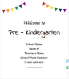Virtual Learning Welcome Letter for Pre - K