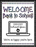 Virtual Learning Welcome Packet (Fully Editable)