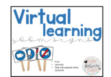 Virtual Learning Zoom Signs