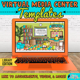 Virtual Library Classroom Templates Editable Google Slides for Distance Learning