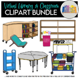 Virtual Library and Classroom Clipart Bundle: GROWING