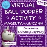 Magenta the Unicorn Virtual Popper Interactive PowerPoint