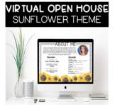 Virtual Meet The Teacher Open House PowerPoint with Google Slides Sunflower