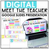 Digital Meet The Teacher Slideshow   for Google Slides™   English & Spanish
