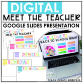 Virtual Meet The Teacher Slideshow | Google Slides | Engli