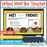Virtual Meet the Teacher: Google Classroom Slides for Virtual Open House